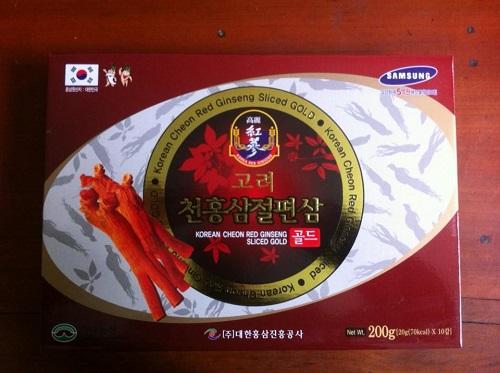 Sâm lát tẩm mật ong Hàn Quốc hộp 200 gram