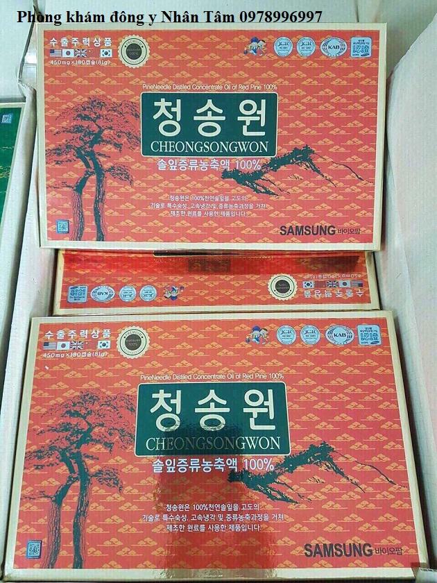 Tinh dầu thông đỏ Hàn Quốc Cheongsonwon 180 viên hộp đỏ